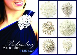 Bedazzling Brooches – R125 each!